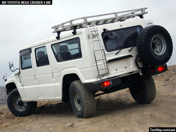 SUNTORY BOSS 4WD BIG CRUISER Miniature Car TOYOTA MEGA CRUISER White 1:87